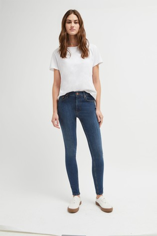 "French Connection Blue R Rebound 30"" Skinny Jeans"