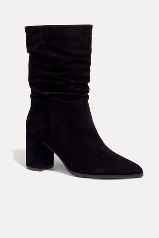 Phase Eight Black Sacha Block Heel Boots