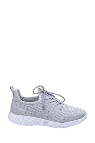 Divaz Grey Heidi Knit Shoes