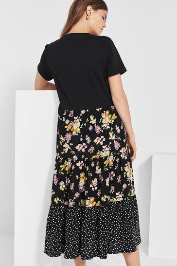 Next/Mix Print T-Shirt Dress