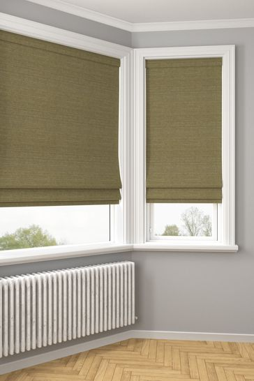Jasper Olive Green Made To Measure Roman Blind