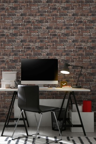 Art For The Home Red Fresco Brick Wall Wallpaper