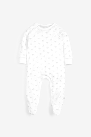 The Little Tailor White Sleepsuit, Hat, Booties Gift Set
