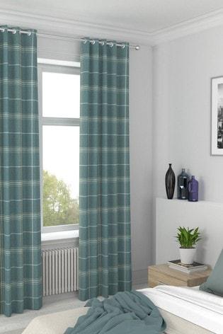 Juniper Green Camden Check Made To Measure Curtains