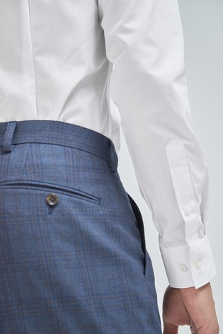 White Skinny Fit Single Cuff Shirts Three Pack
