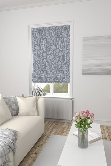 Garrick Silver Grey Made To Measure Roman Blind