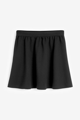 Black Full Skater Skirt (3-16yrs)