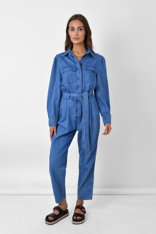 Ro&Zo Blue Denim Utility Jumpsuit