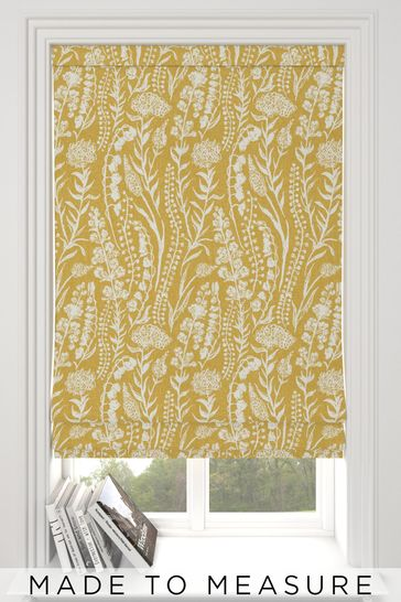 Garrick Sunflower Yellow Made To Measure Roman Blind