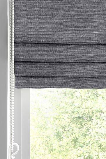 Jasper Mercury Grey Made To Measure Roman Blind
