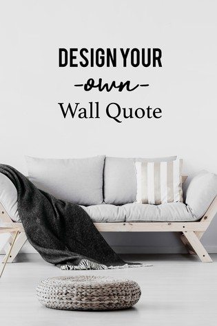 Personalised Design Your Own Wall Sticker by Loveabode