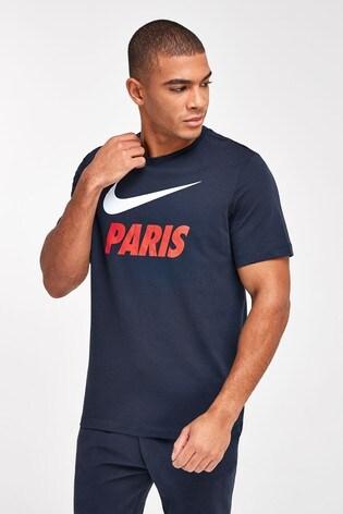Nike Navy PSG Ground T-Shirt