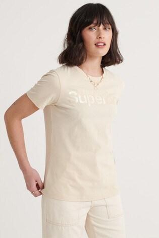 Superdry Swiss Logo Bonded Satin T-Shirt