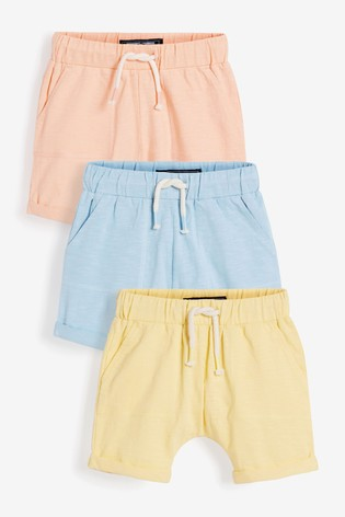 Pastel 3 Pack Lightweight Jersey Shorts (3mths-7yrs)