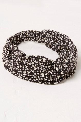 FatFace Black Daisy Ditsy Jersey Headband