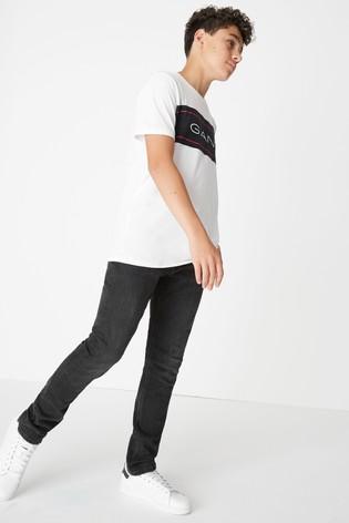GANT Boys' Black Slim Jean