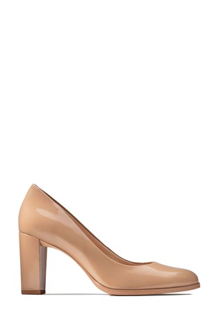 Clarks Praline Patent Kaylin Cara Shoes