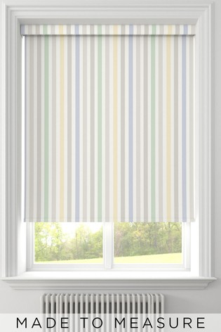 Stripe Natural Yellow Made To Measure Roller Blind