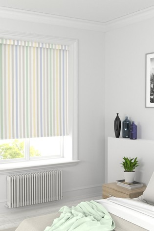 Yellow/Natural Stripe Made To Measure Roller Blind