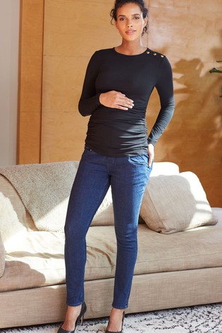 Isabella Oliver Black Super Stretch Maternity Skinny Jeans
