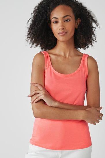 Fluro Pink Thick Strap Vest