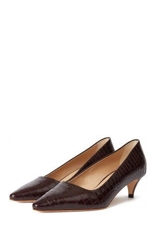 Hobbs Brown Millie Court Shoes