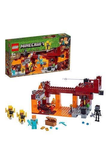 LEGO 21154 Minecraft The Blaze Bridge Building Set