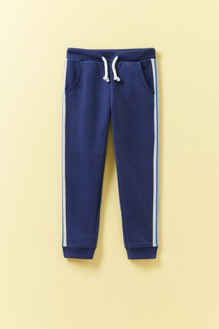 Crew Clothing Blue Side Stripe Joggers