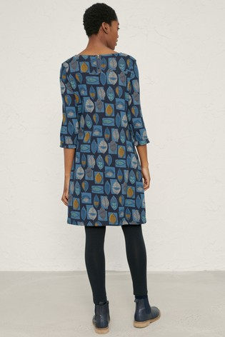 Seasalt Blue Print Makers Dress