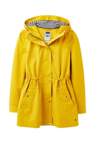 Joules Yellow Shoreside Waterproof A Line Coat