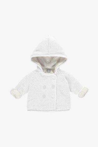 The Little Tailor White Pram Plush Lined Coat