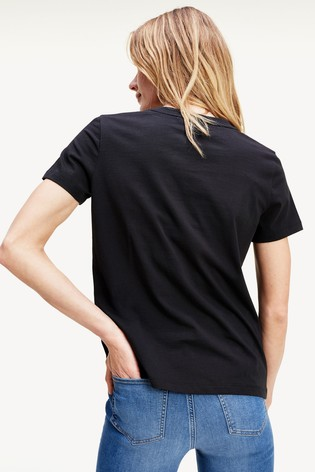 Tommy Hilfiger Black Essential Logo T-Shirt