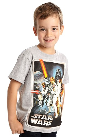 Fabric Flavours Grey Star Wars™ 'A New Hope' Classic Poster T-Shirt