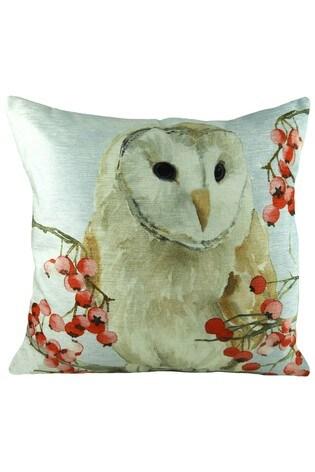 Christmas Owls Cushion by Evans Lichfield