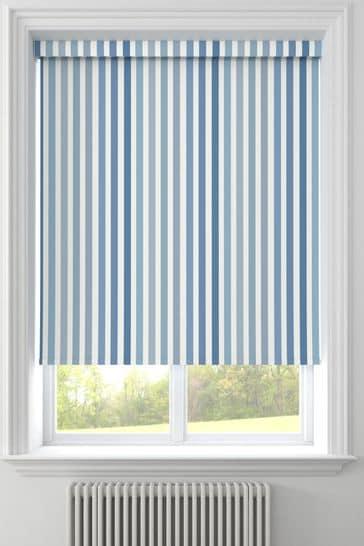 Stripe Blue Made To Measure Roller Blind