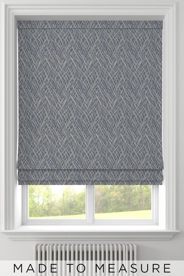 Pionna Danube Blue Made to Measure Roman Blind
