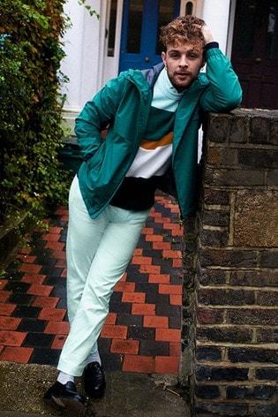 Tommy Hilfiger Blue Structured Block Stripe Sweater