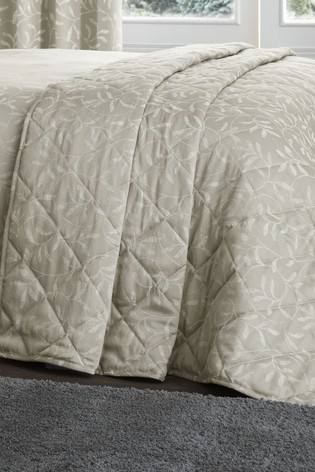 Serene Natural Alexa Jacquard Bedspread