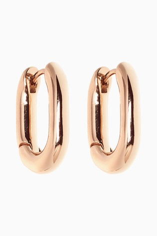 Gold Tone Mini Hinge Hoop Earrings