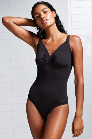 Speedo® Sculpture Black Watergem Adjustable Swimsuit