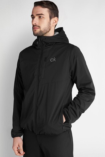 Calvin Klein Golf Black Ultron Hooded Jacket