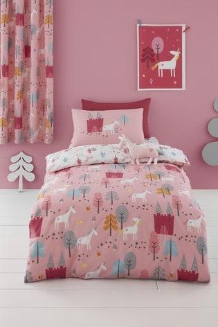 Cosatto Pink Unicornland Duvet Cover and Pillowcase Set
