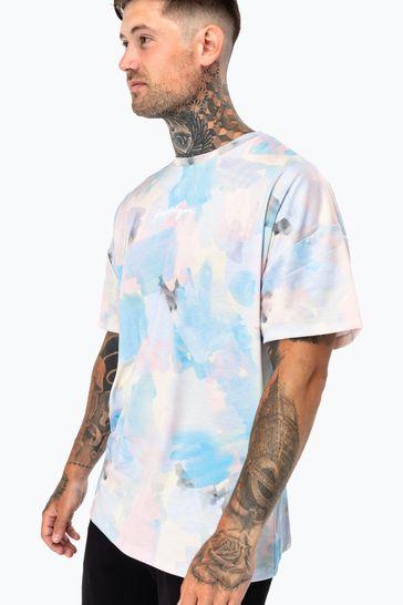 Hype. Mens Multi Pastel Oversized T-Shirt
