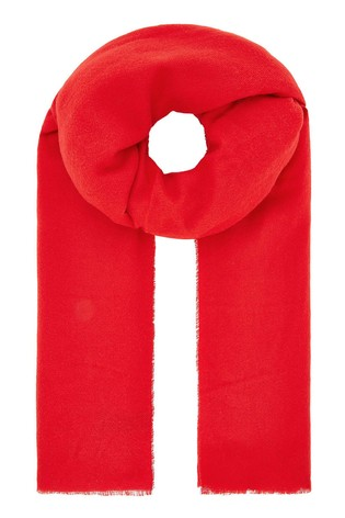 Accessorize Red Wells Supersoft Blanket Scarf