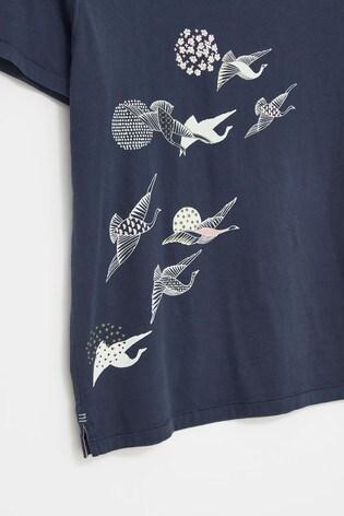 Kyoto Bird Organic Graphic T-Shirt