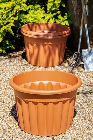 Set of 3 Wham Vista 60cm Round Planters
