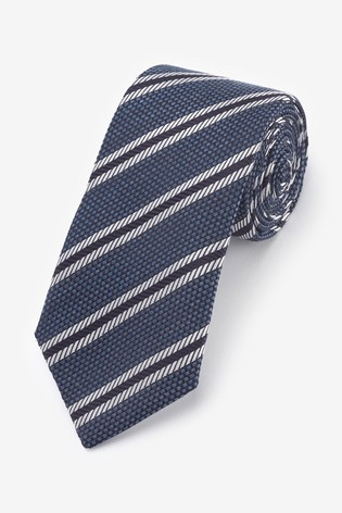 Navy Signature Stripe 'Made in Italy' Tie