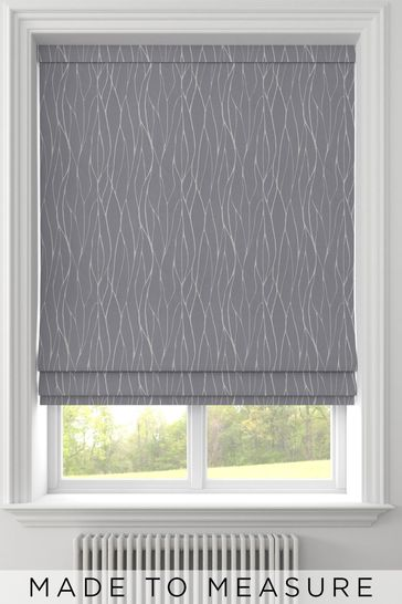 Legna Graphite Grey Made To Measure Roman Blind