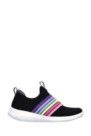 Skechers® Black Ultra Flex Brightful Day Trainers