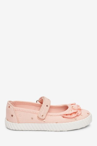 Pink Star Ruffle Mary Jane Pumps (Younger)